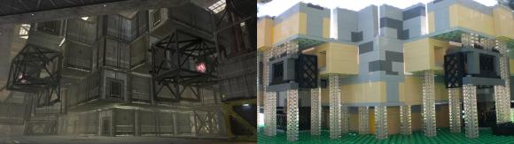 Underside of Big Arena - side-by-side Halo / Lego comparison